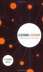 Jessica Pressman recommends the best Electronic Literature - Electronic Literature by N. Katherine Hayles