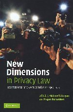 The best books on Privacy - New Dimensions in Privacy Law by Cambridge University Press