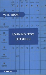 The best books on Psychoanalysis - Learning From Experience by Wilfred Bion