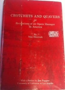 The best books on Opera - Crochets and Quavers by Max Maretzek