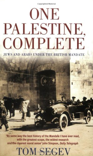 The best books on Israel - One Palestine, Complete by Tom Segev