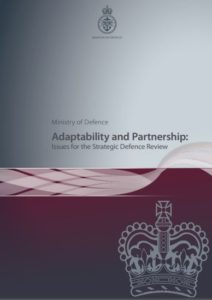 The best books on The Politics of War - Adaptability and Partnership by MoD