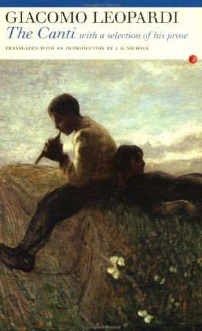 The Best Italian Literature - I canti by Giacomo Leopardi