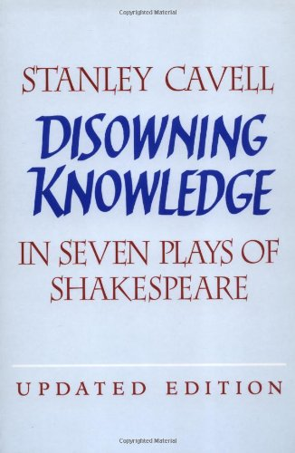 The best books on Evil - Disowning Knowledge by Stanley Cavell