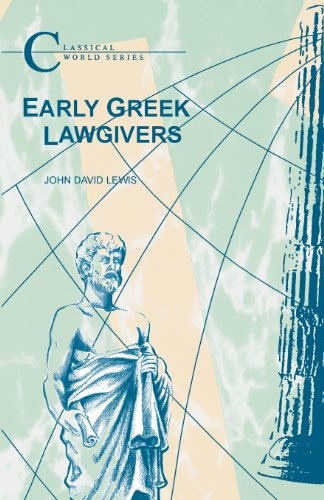 The best books on War and Foreign Policy - Early Greek Lawgivers by John David Lewis