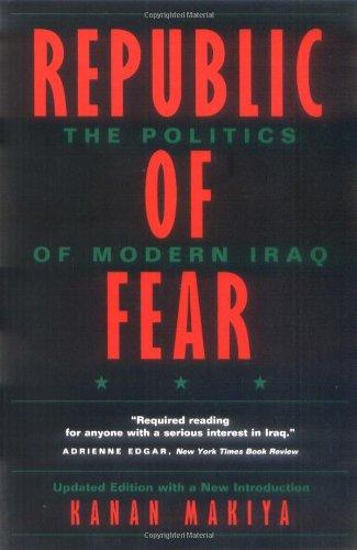 Kanan Makiya recommends the best books on the History of Iraq - Republic of Fear by Kanan Makiya