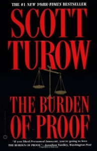 The Best Legal Novels - The Burden of Proof by Scott Turow