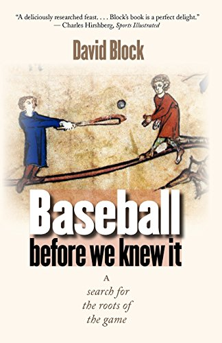 The best books on Baseball - Baseball Before We Knew It by David Block