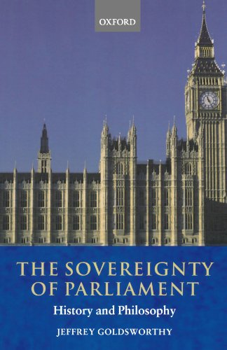 The best books on Electoral Reform - The Sovereignty of Parliament by Jeffrey Goldsworthy