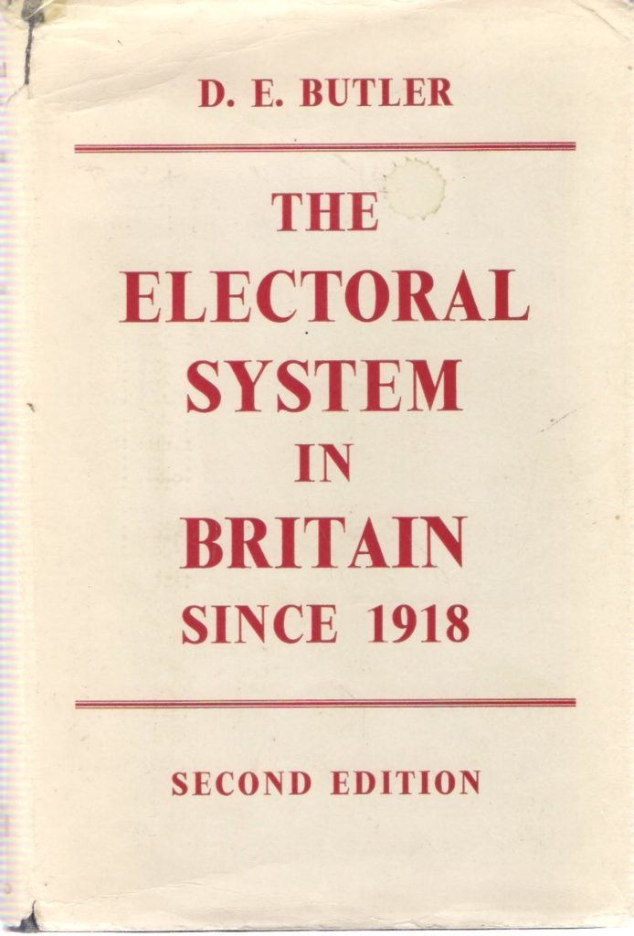 The best books on Electoral Reform - The Electoral System in Britain since 1918 by David Butler