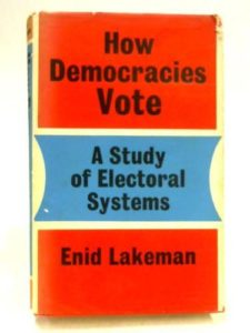 The best books on Electoral Reform - How Democracies Vote by Enid Lakeman