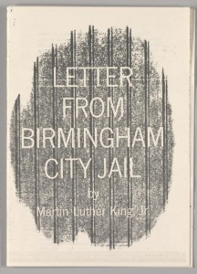 The best books on Progressivism - Letter from the Birmingham Jail by Martin Luther King Jr