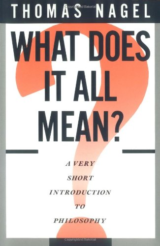 Nigel Warburton recommends the best Introductions to Philosophy - What Does It All Mean? by Thomas Nagel