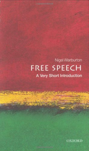 The Best Philosophy Books of 2017 - Free Speech: A Very Short Introduction by Nigel Warburton