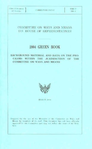 The best books on Public Finance - Green Book by Committee on Ways and Means, US House of Representatives