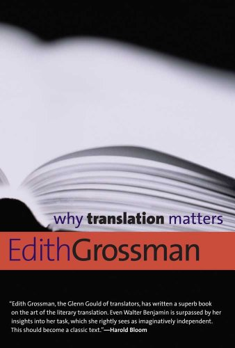 The best books on Translation - Why Translation Matters by Edith Grossman