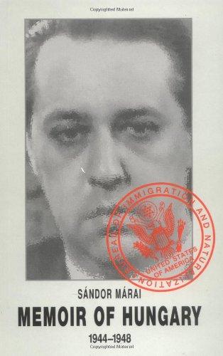 Memoir of Hungary by Sándor Márai