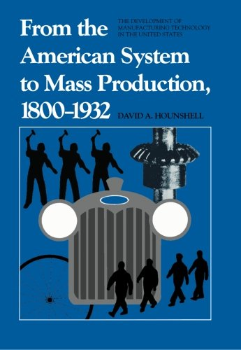 The best books on American Economic History - From the American System to Mass Production, 1800-1932 by David A Hounshell