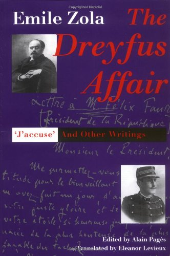 The best books on Dreyfus and the Belle Epoque - The Dreyfus Affair: J'accuse and other writings by Emile Zola