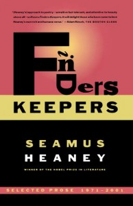 The best books on The Cult of Celebrity - Finders Keepers by Seamus Heaney