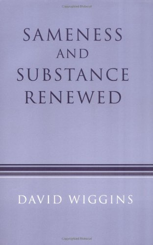 The best books on Metaphysics - Sameness and Substance Renewed by David Wiggins