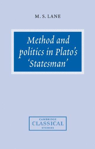 The best books on Plato - Method and Politics in Plato's Statesman by Melissa Lane