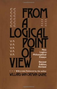 The best books on Pragmatism - From a Logical Point of View by Willard Van Orman Quine