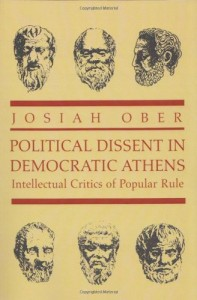 The Best Plato Books - Political Dissent in Democratic Athens by Josiah Ober