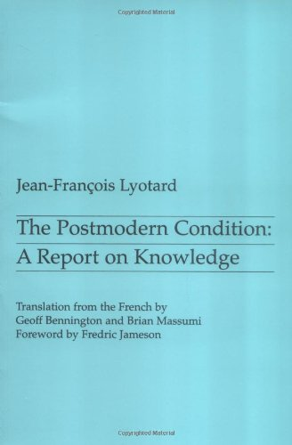 Luciano Floridi recommends the best books on the Philosophy of Information - The Postmodern Condition by Jean-Francois Lyotard