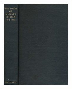 The best books on London's Addictions - The Diary of Dudley Ryder, 1715-1716 by Dudley Ryder