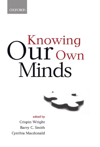 The best books on Taste - Knowing Our Own Minds by Barry C. Smith, Crispin Wright & Cynthia Macdonald