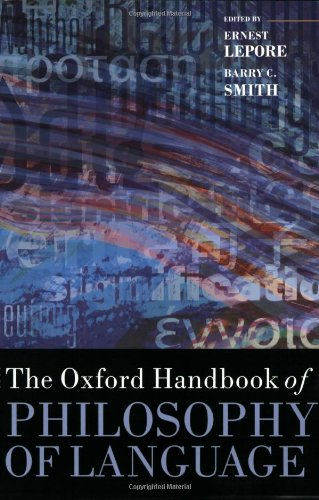 The best books on Taste - The Oxford Handbook of Philosophy of Language by Barry C. Smith & Ernest Lepore