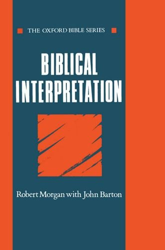 The best books on Jesus - Biblical Interpretation by Robert Morgan