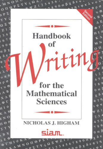 The best books on Applied Mathematics - Handbook of Writing for the Mathematical Sciences by Nick Higham