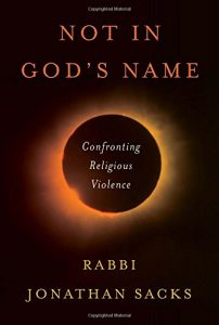 The best books on Refugees - Not in God's Name: Confronting Religious Violence by Jonathan Sacks