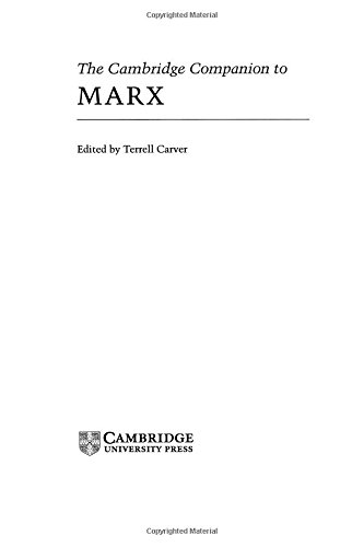 The best books on Marx and Marxism - The Cambridge Companion to Marx by Terrell Carver