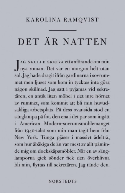 Dorthe Nors on the best Contemporary Scandinavian Literature - Det är natten by Karolina Ramqvist