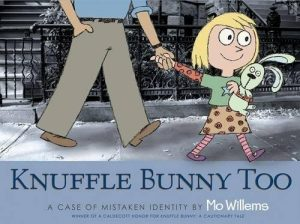 Best Books About Dads (for younger kids) - Knuffle Bunny Too: A Case of Mistaken Identity by Mo Willems