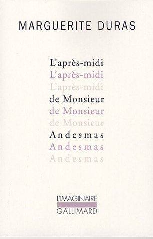 Enrique Vila-Matas discute Los libros que le influyeron - The Afternoon of Mr. Andesmas by Marguerite Duras