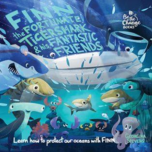 Finn the Fortunate Tiger Shark by Georgina Stevens