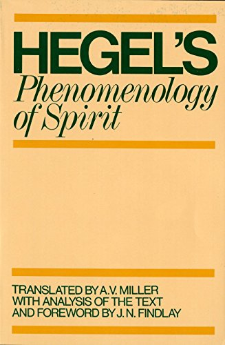 The best books on Hegel - Phenomenology of Spirit by A. V. Miller & G. W. F. Hegel