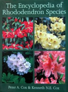 The best books on Plants and Plant Hunting - Encyclopedia of Rhododendron Species by Kenneth Cox & Peter Cox