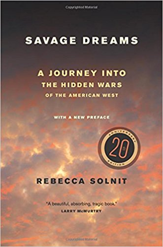 The best books on Radical Environmentalism - Savage Dreams by Rebecca Solnit