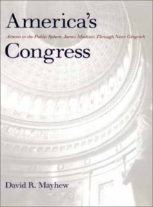 The best books on Congress - America's Congress: Actions in the Public Sphere, James Madison Through Newt Gingrich by David R Mayhew