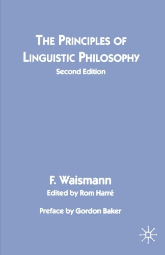 The best books on Wittgenstein - The Principles of Linguistic Philosophy by Friedrich Waismann