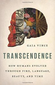 The best books on The Anthropocene - Transcendence: How Humans Evolved Through Fire, Language, Beauty, and Time by Gaia Vince