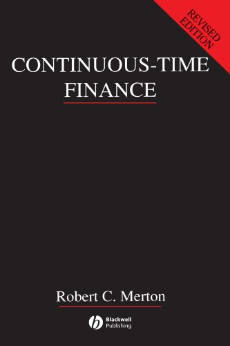 The Best Finance Books - Continuous-Time Finance by Robert Merton