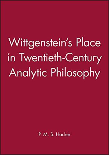 The best books on Wittgenstein - Wittgenstein's Place in Twentieth-Century Analytic Philosophy by Peter Hacker