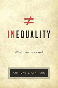 The best books on Learning Economics - Inequality: What Can Be Done? by Anthony B Atkinson