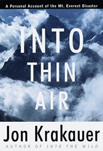 The best books on National Security - Into Thin Air: A Personal Account of the Mount Everest Disaster by Jon Krakauer